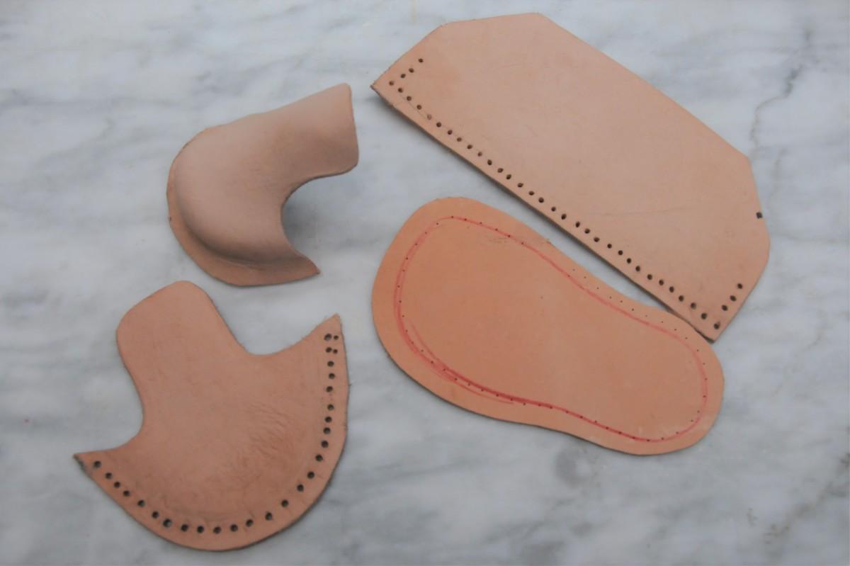 Veg tanned boot pattern