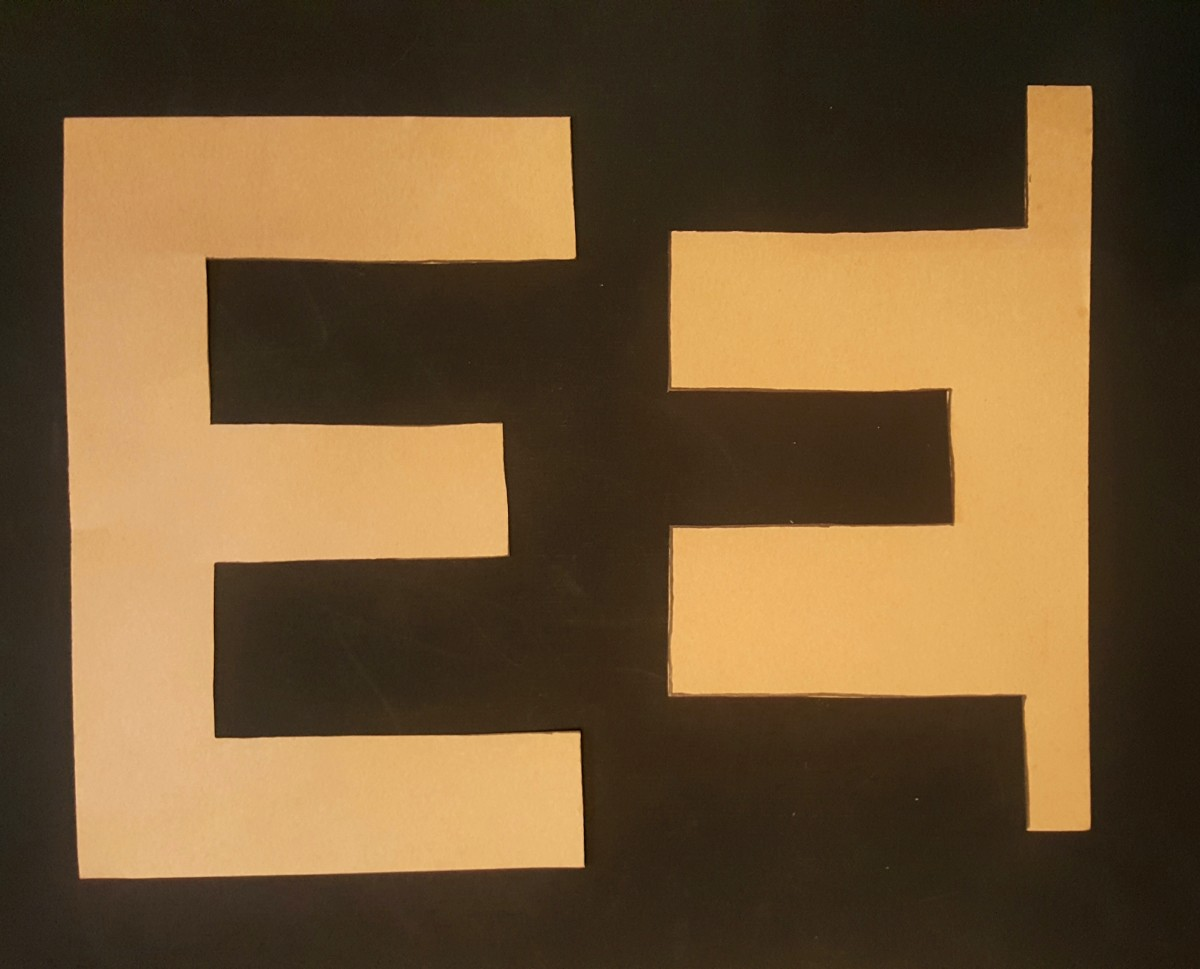"Finished ""E"" Cut Out"