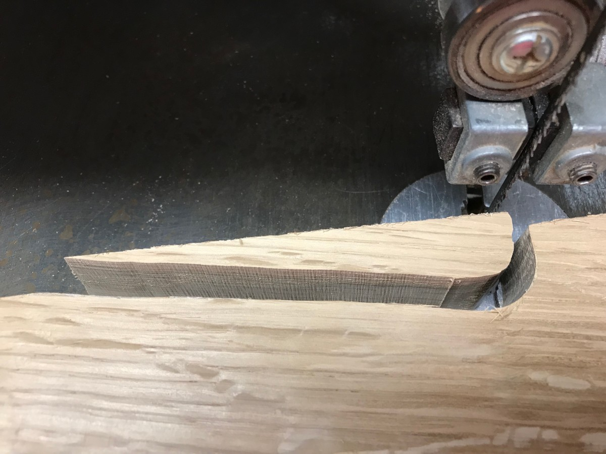 A band saw makes it easy to cut curves.