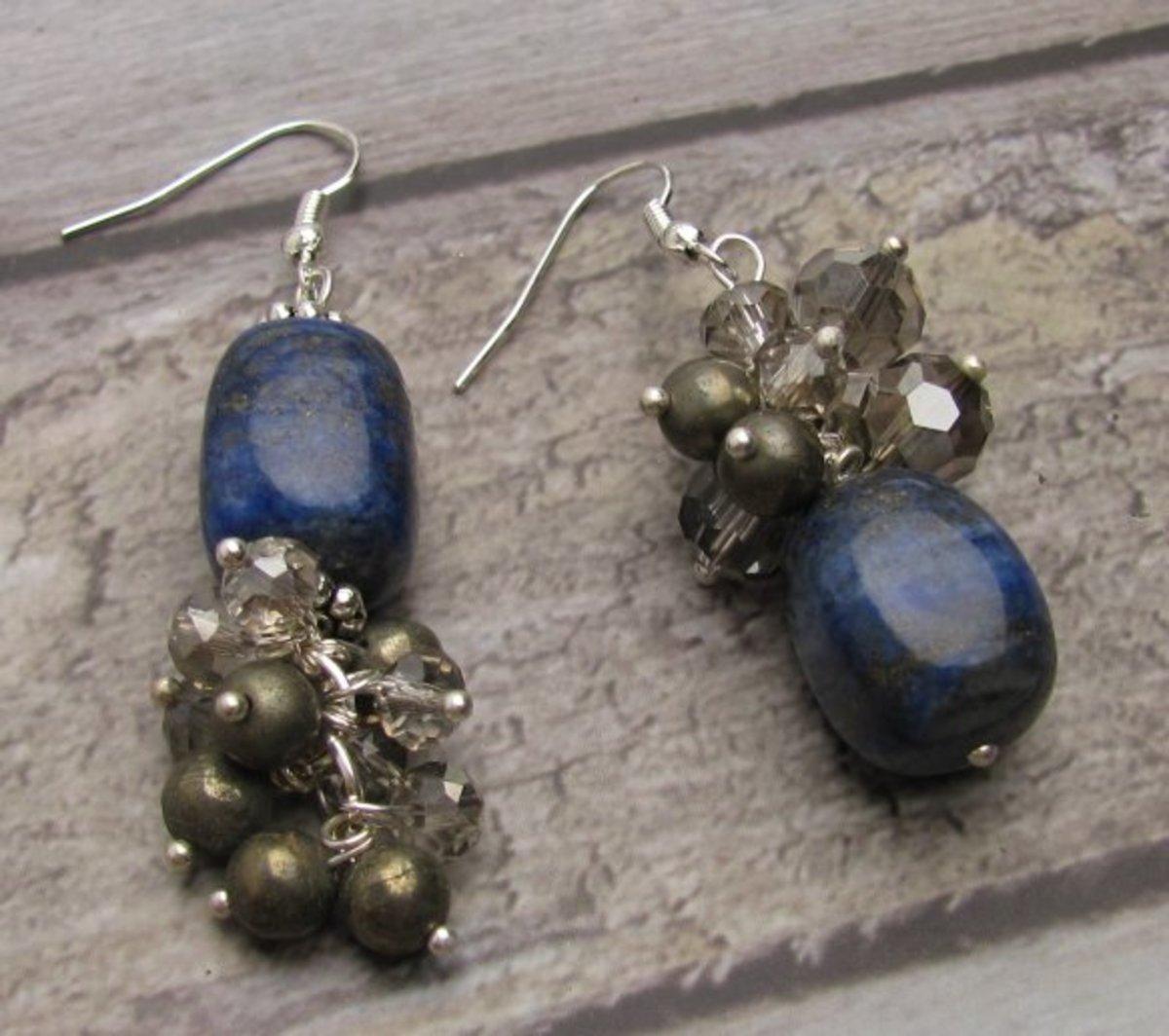 Lapis Lazuli Gemstone Cluster Two Ways