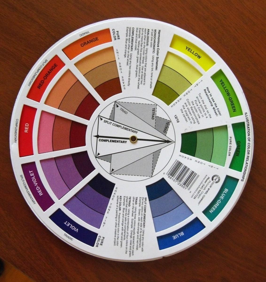 Color wheel, back.