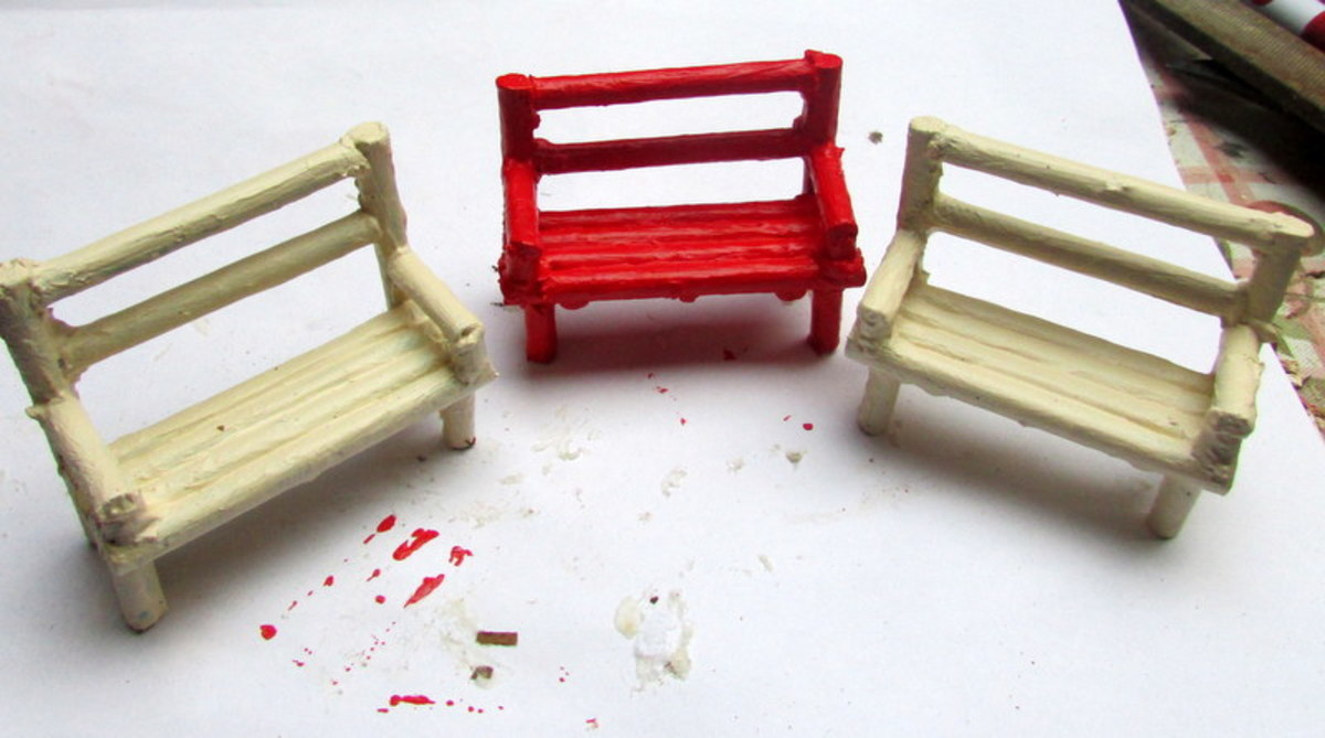 Wooden benches for Fairy Houses