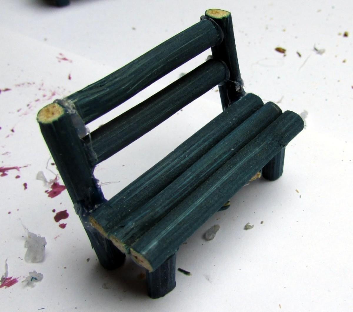 How to make a miniature bench for a fairy garden