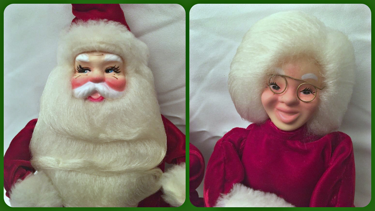 "Yes it is true Harold Gale did make a Mr. And Mrs. Claus for the general public, for their home displays, and they both have good hair. Santa stands 16"" tall and Mrs Claus is 14"" tall."