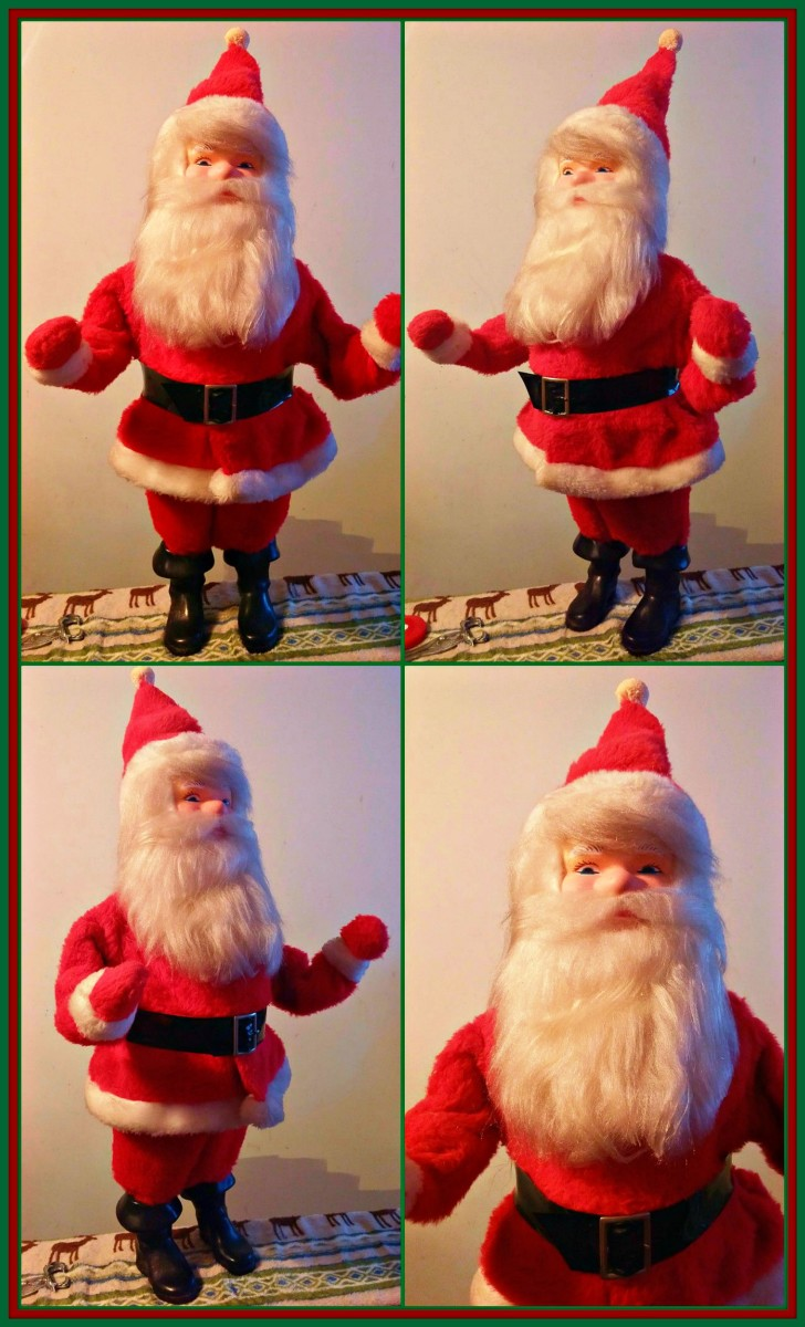 "Vintage Harold Gale, Christmas Department Store display Santa St. Nick. Harold Gale Santa store display in nice condition from the 1970's. Measures 28"" inches from toe to the top of his hat."