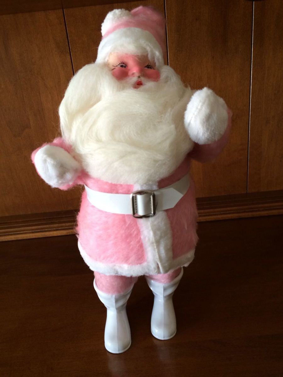 Fabulous 1963, Vintage Pink, Harold Gale Santa Claus. He stands an amazing 14 Inches tall, this is a real rare one to find and is valuable in pristine condition.