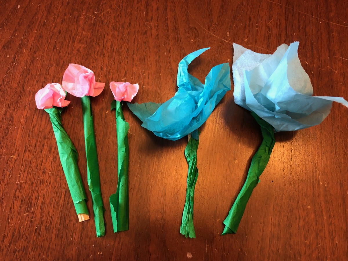 This is what the flowers looked like once they were finished.