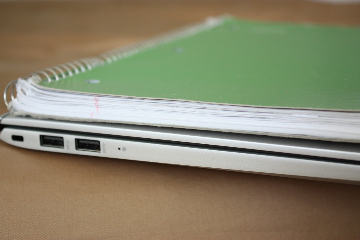 Almost as thin as my 1-subject notebook