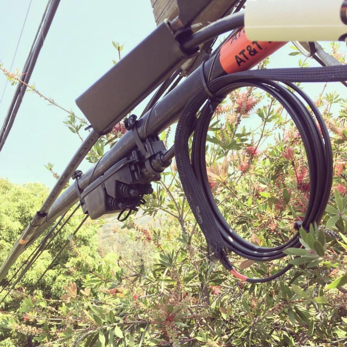This is an aerial CFST located at the top of a telephone pole near your home.