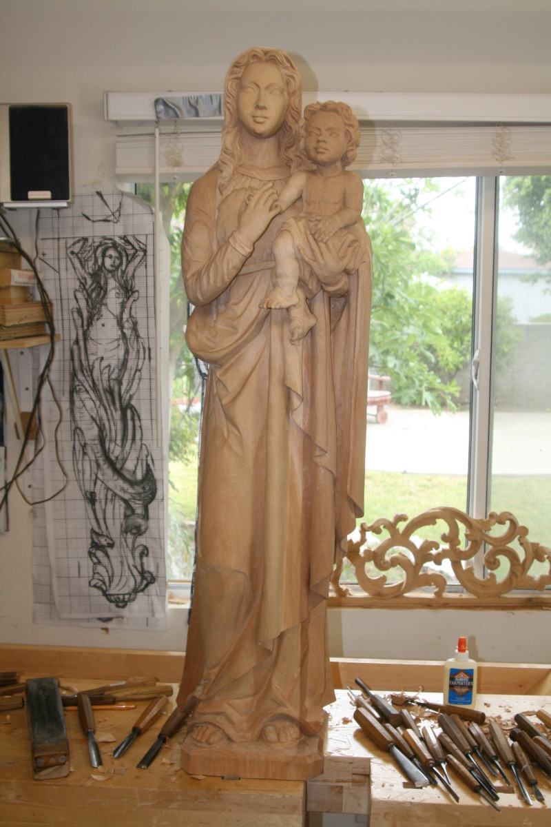 Madonna and Baby made for the Copper Hill Catholic Church in Santa Clarita California