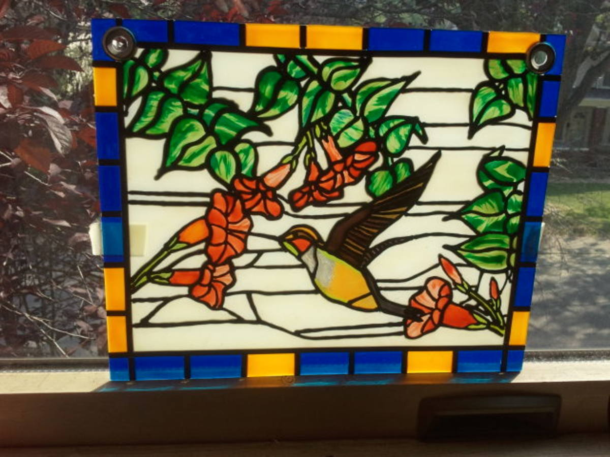 Faux stained glass painting video how to 39 s and for Glass painting techniques