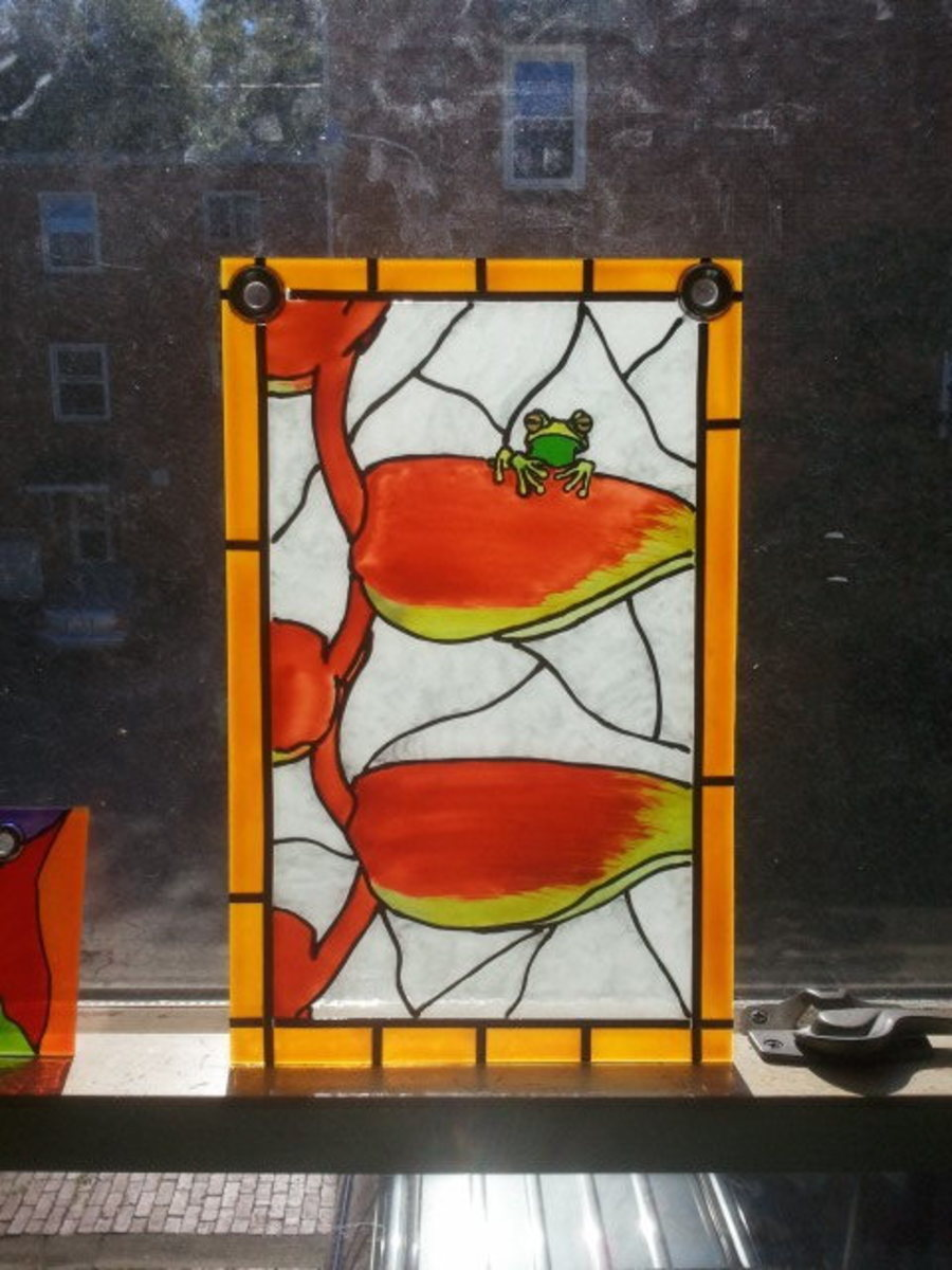 Faux stained glass painting video how to 39 s and techniques for Glass painting techniques
