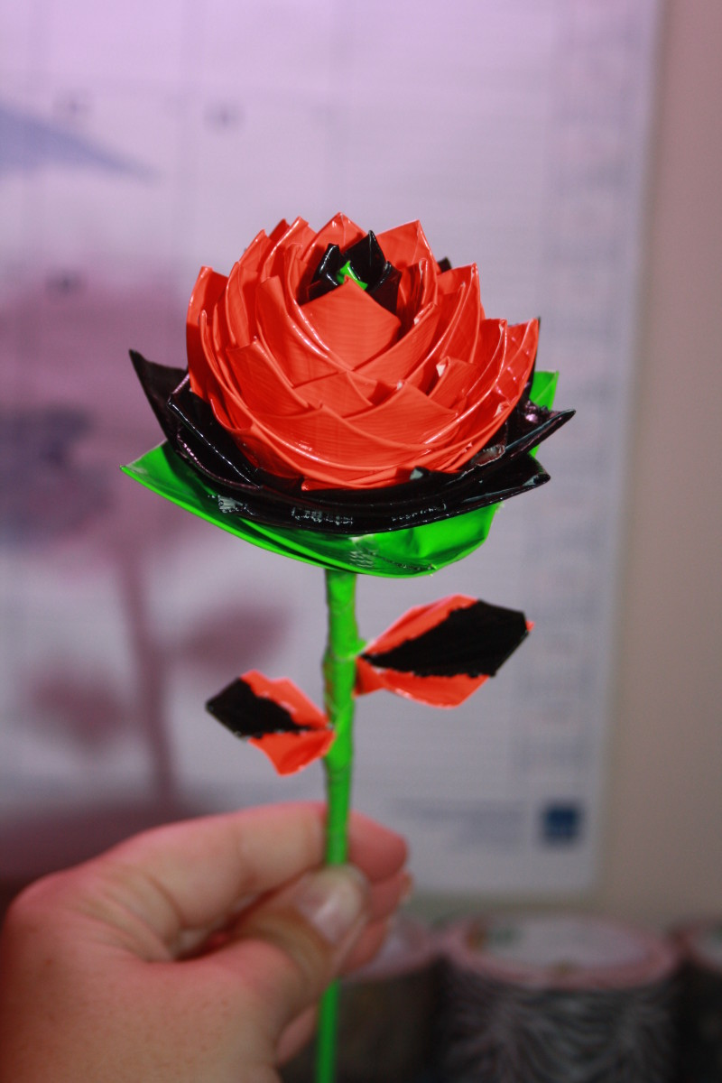 My final Duct Tape Rose!