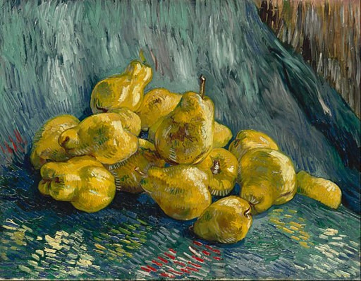 Example of a great still life composition by Vincent van Gogh - Still Life with Quinces