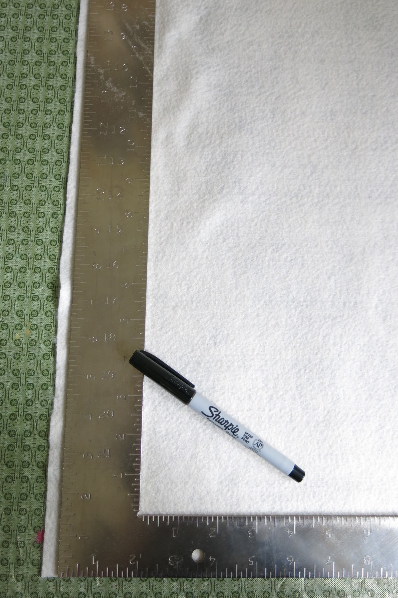 Trimming your fabric to make a no-sew fall banner for your home