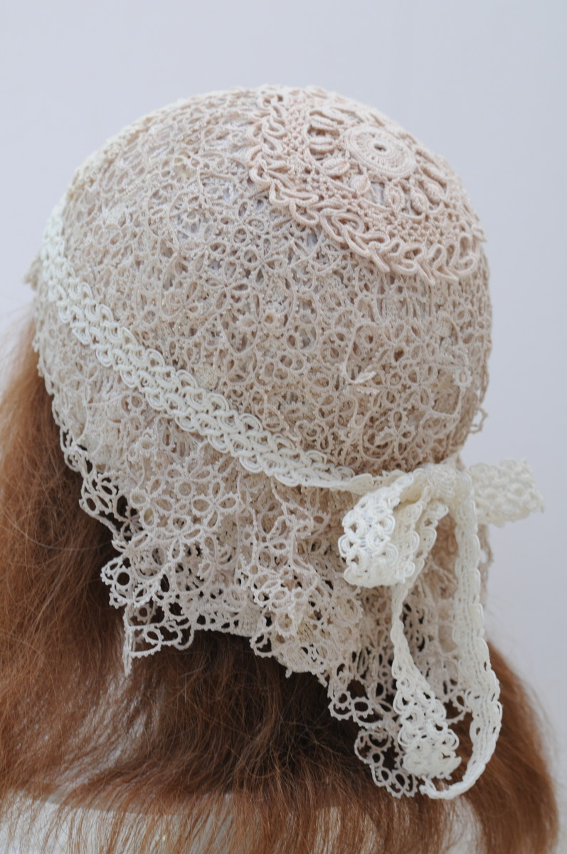 Here is a 1920's flapper wedding hat. Keep the end result fixed in your mind