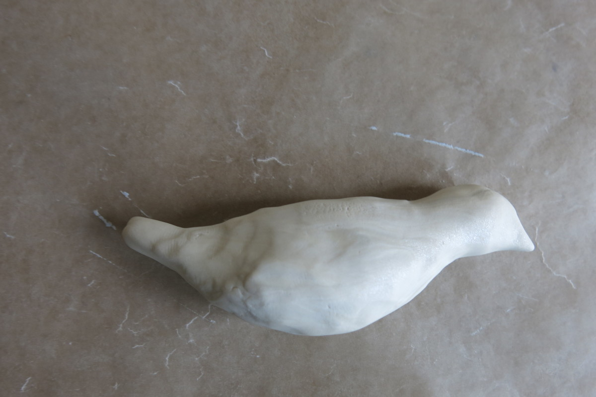 You can shape your clay bird in many forms.