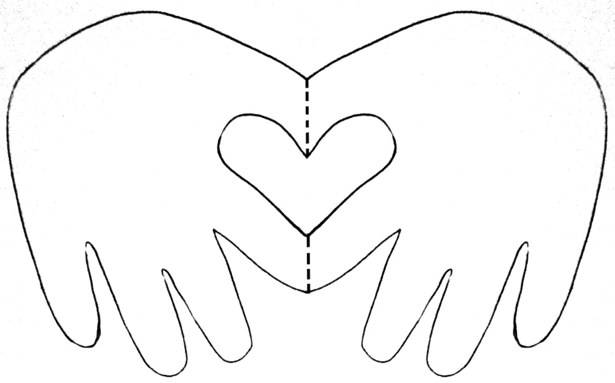 Child/Baby hand heart card