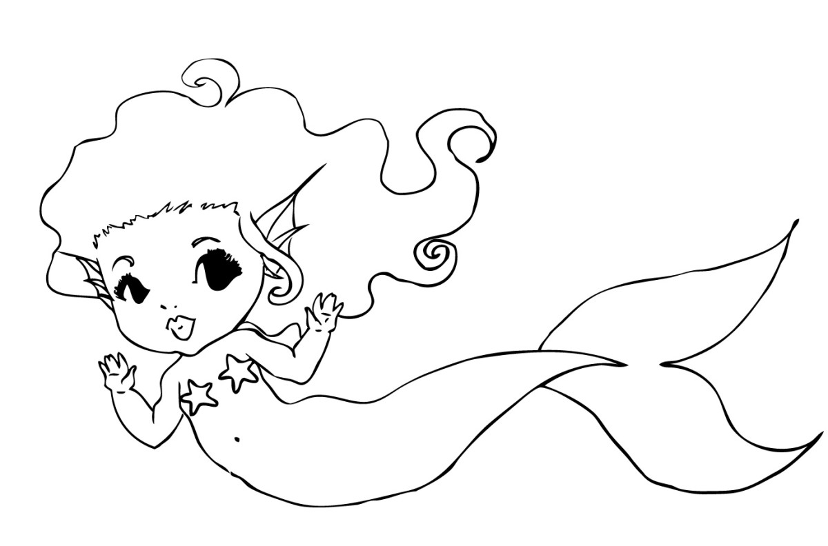 Free printable heart butterfly mermaid fairy box for Baby mermaid coloring pages
