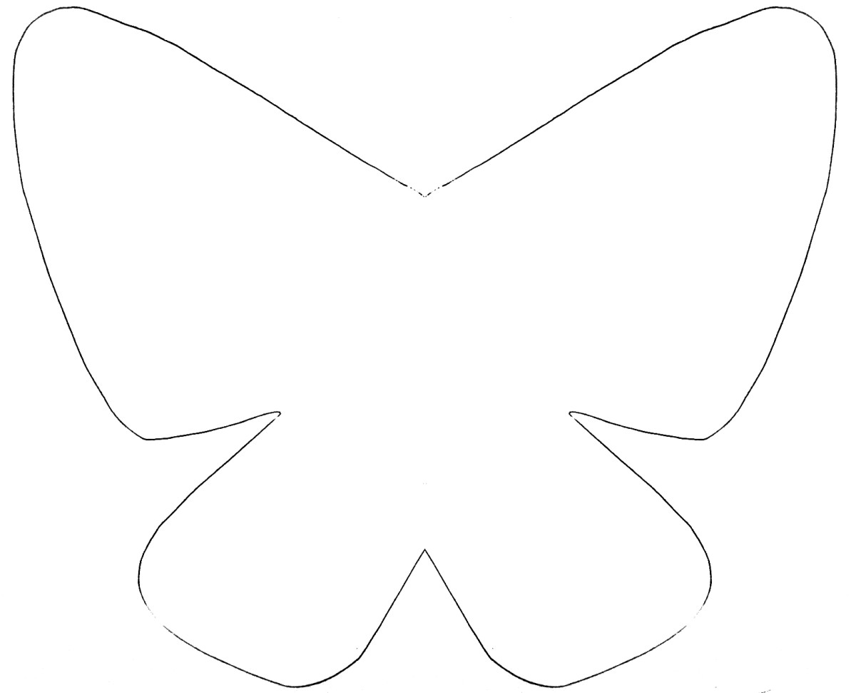 large butterfly template printable
