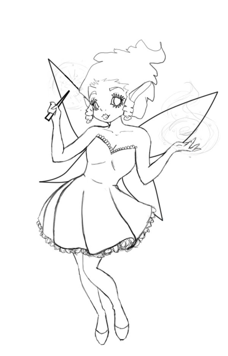 Fairy/Faery coloring page
