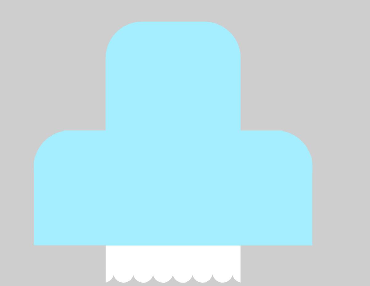 Two colour scallop envelop template