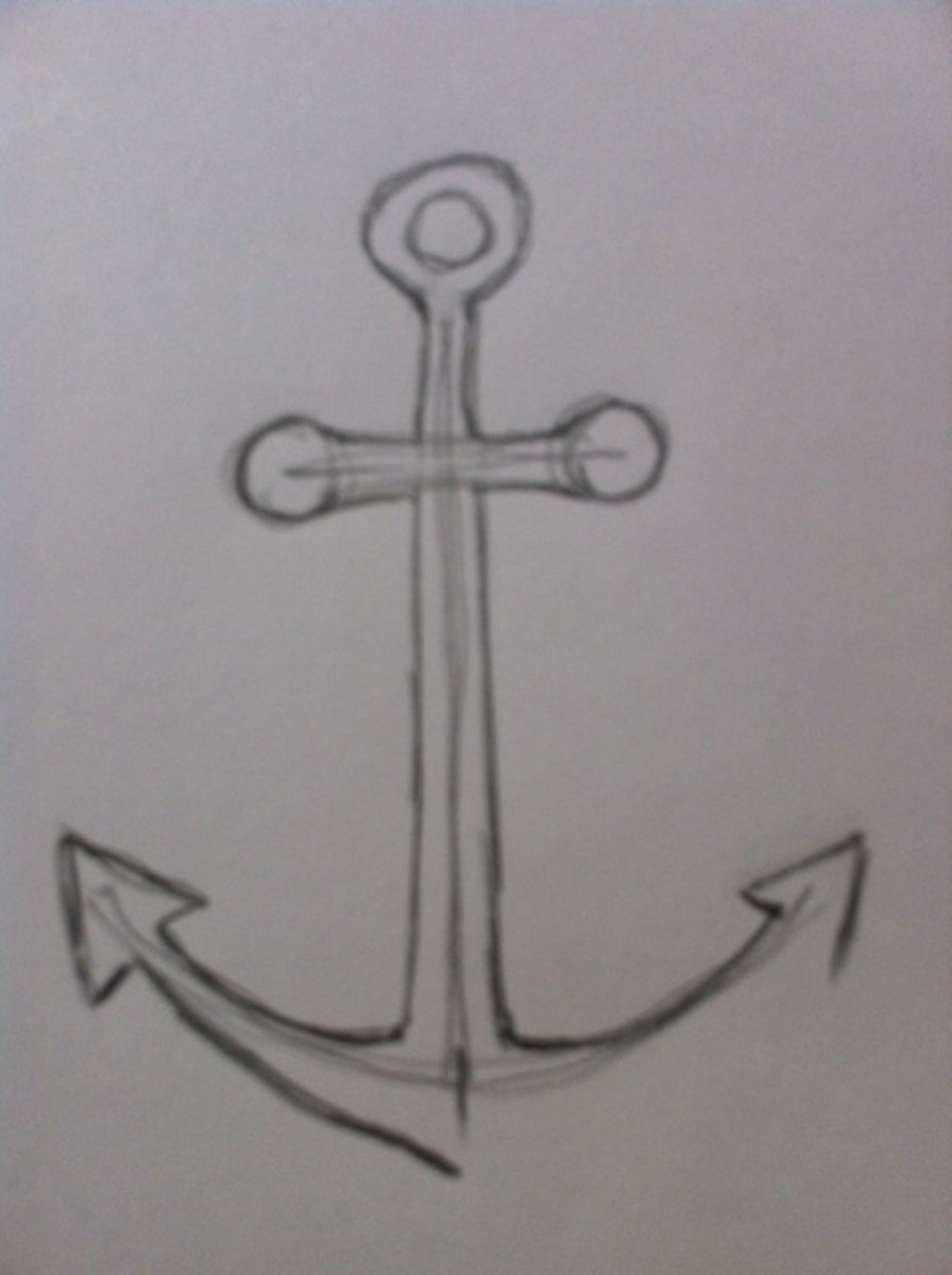 Line Drawing Anchor : How to draw an anchor feltmagnet