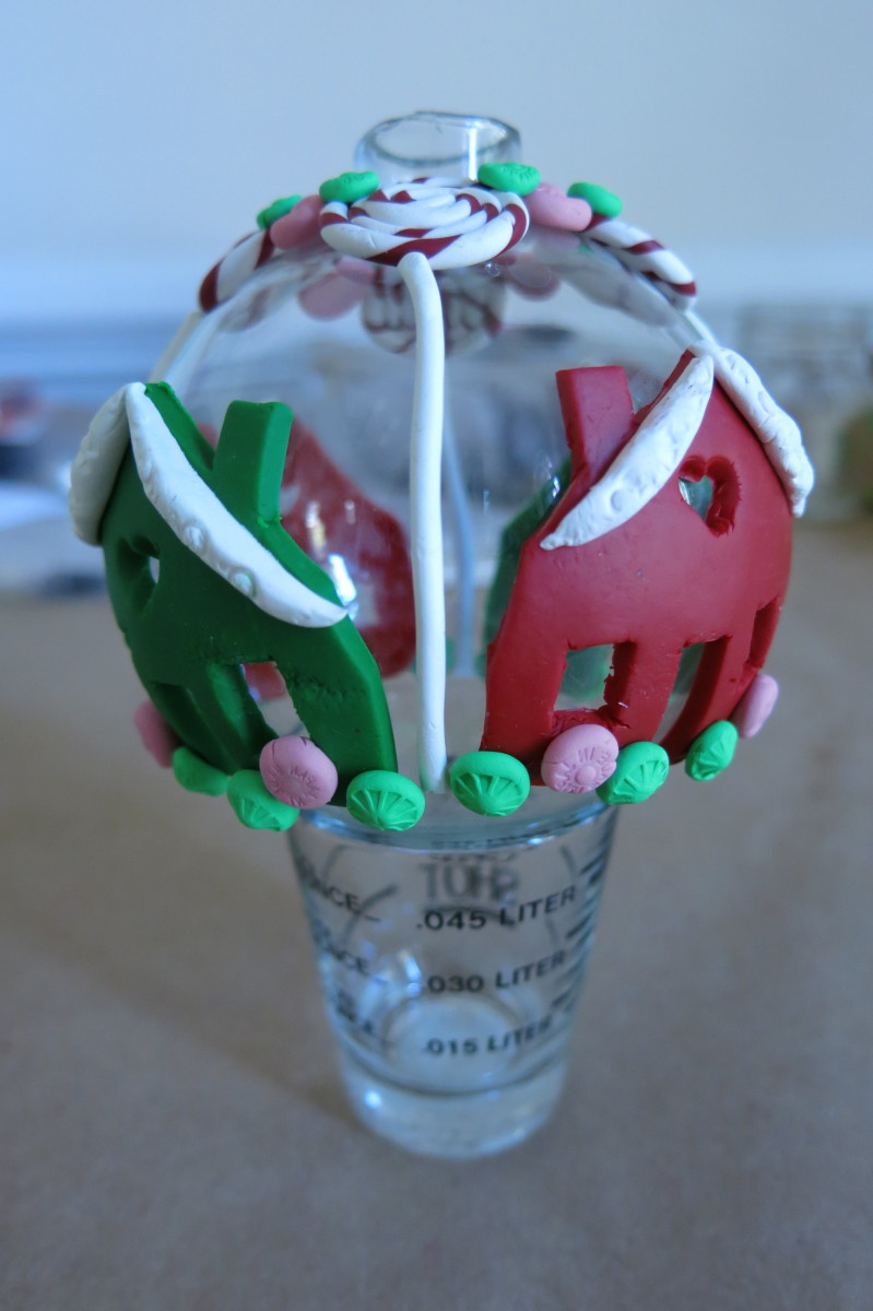 Finishing your polymer clay glass ornament