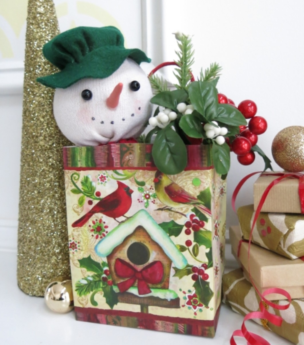 How to Make a Gift Bag Sock Snowman