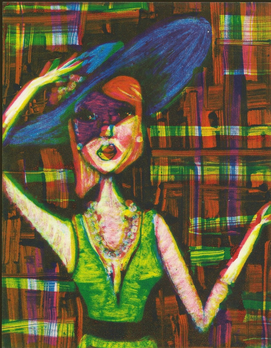The Woman: Introduction- My favorite part of all three of these is the plaid backgrounds. I love how the colors blend together.