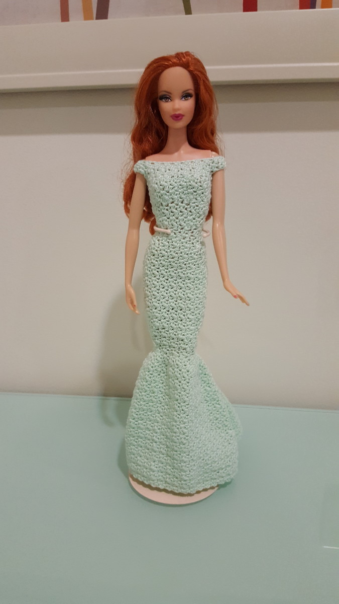 Barbie Off Shoulder Mermaid Gown