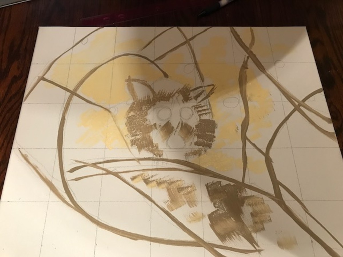 how-to-paint-wildlife-in-mixed-media