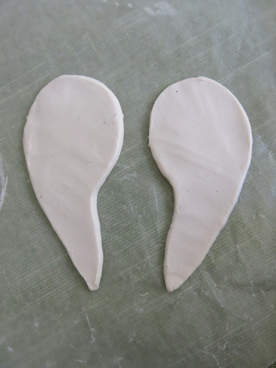How To Make An Angel Wings Christmas Ornament With Polymer