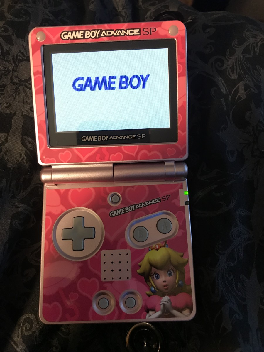 "This GBA game gets stuck on the ""Game Boy"" screen, and won't load. It may need to be cleaned."