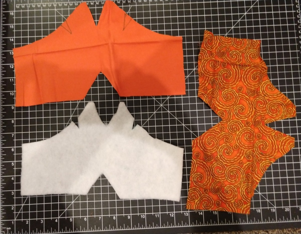 Cut out and unfolded pattern pieces.