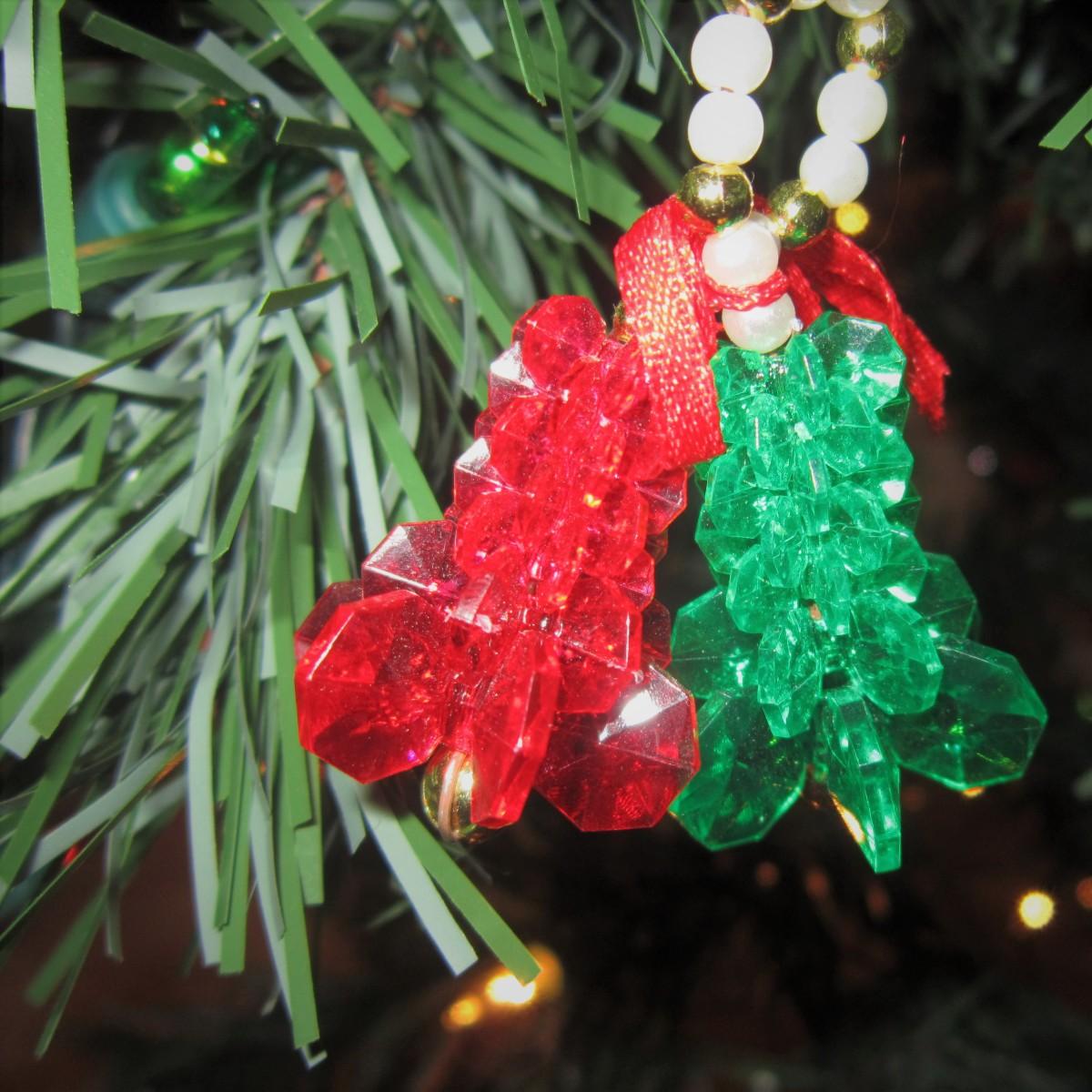 Beaded 'jingle bells' Christmas ornament