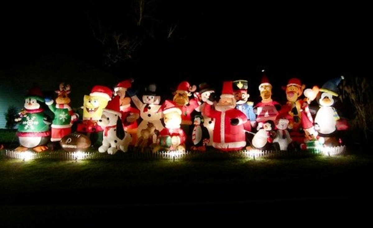Have you ever seen so many Christmas blow-ups in once place before?!