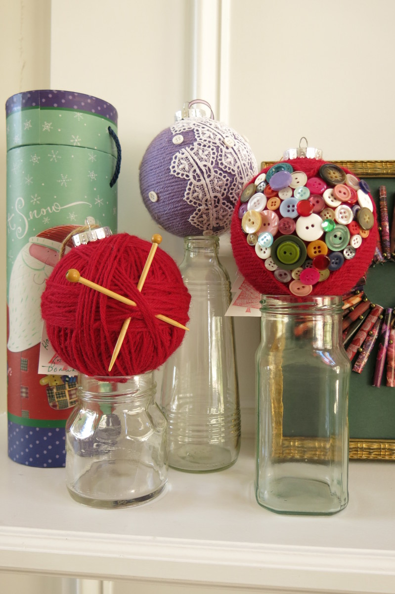 My Adorable DIY Yarn Christmas Ornaments