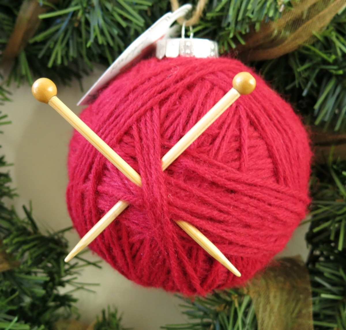 Knitting Needles or Crochet Hook Ornament