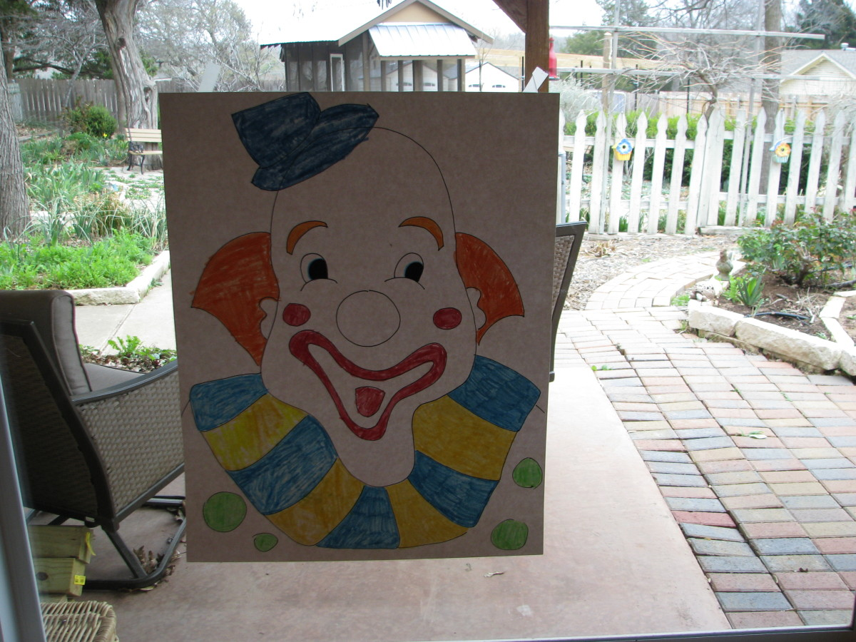 Pin the Nose on the Clown for a carnival party.