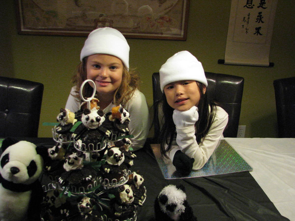 Panda Cupcakes and Birthday Pandas!