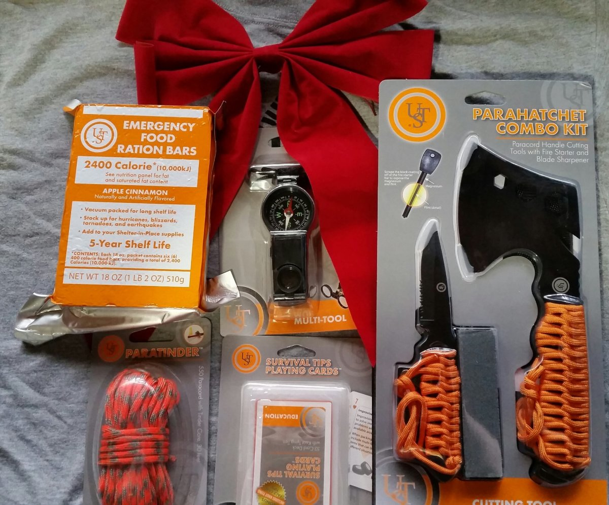 You've got to love getting survival gear for Christmas.