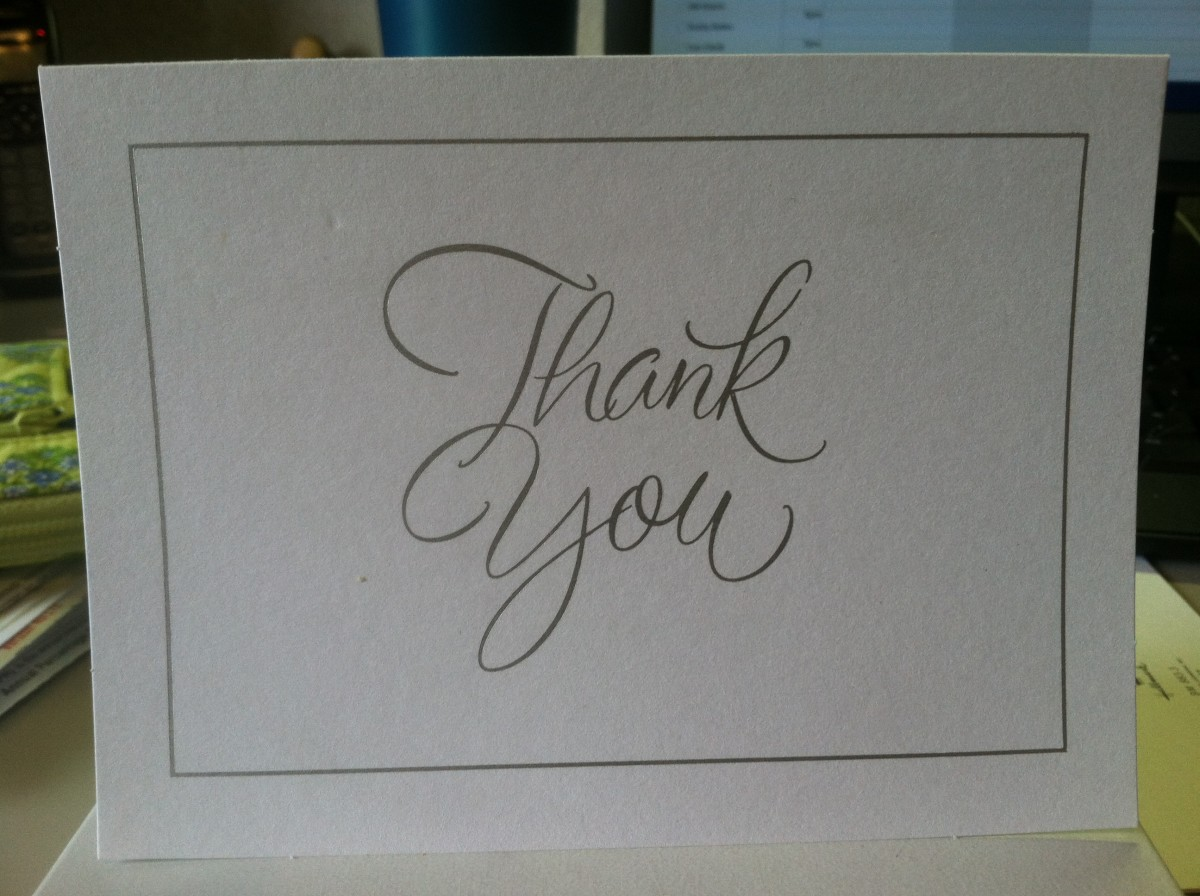 Help the bride out by preparing thank you cards!