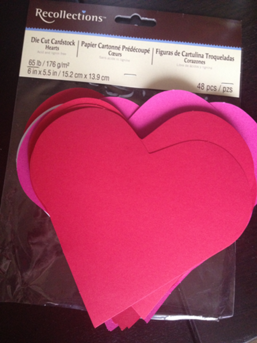 Die Cut Cardstock Hearts | Acid and Lignin free | 6 in x 5.5 in | $2.99 at Michael's