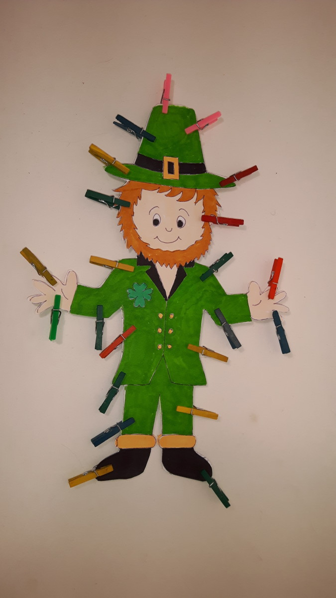 The leprechaun's glue is drying.