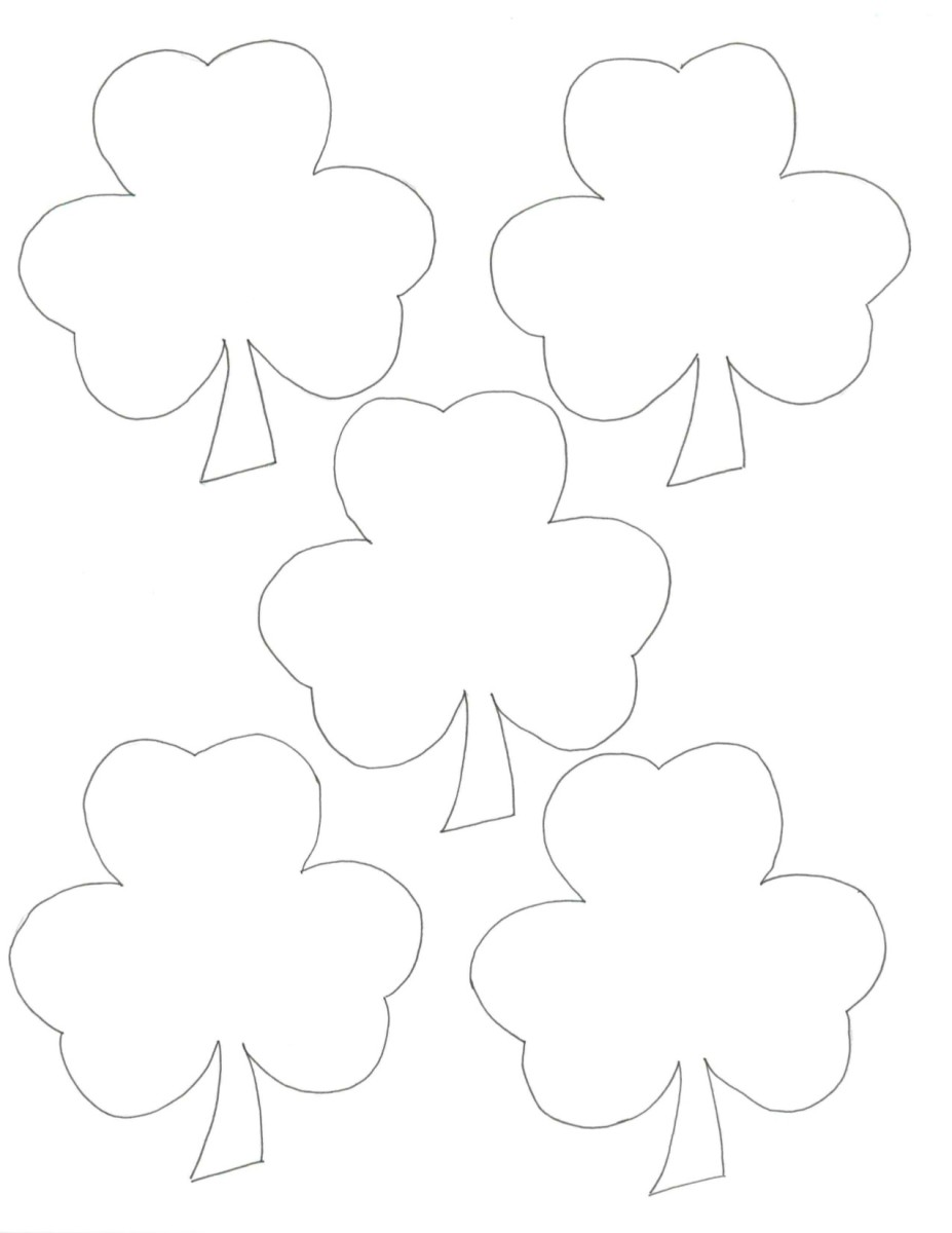 Blank leprechaun treasure hunt clues