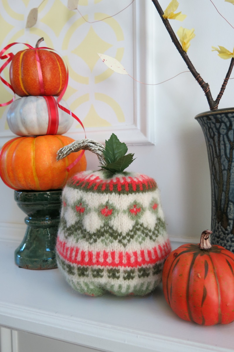 Felted pumpkins are a fun way to repurpose old sweaters and decorate your home for fall!