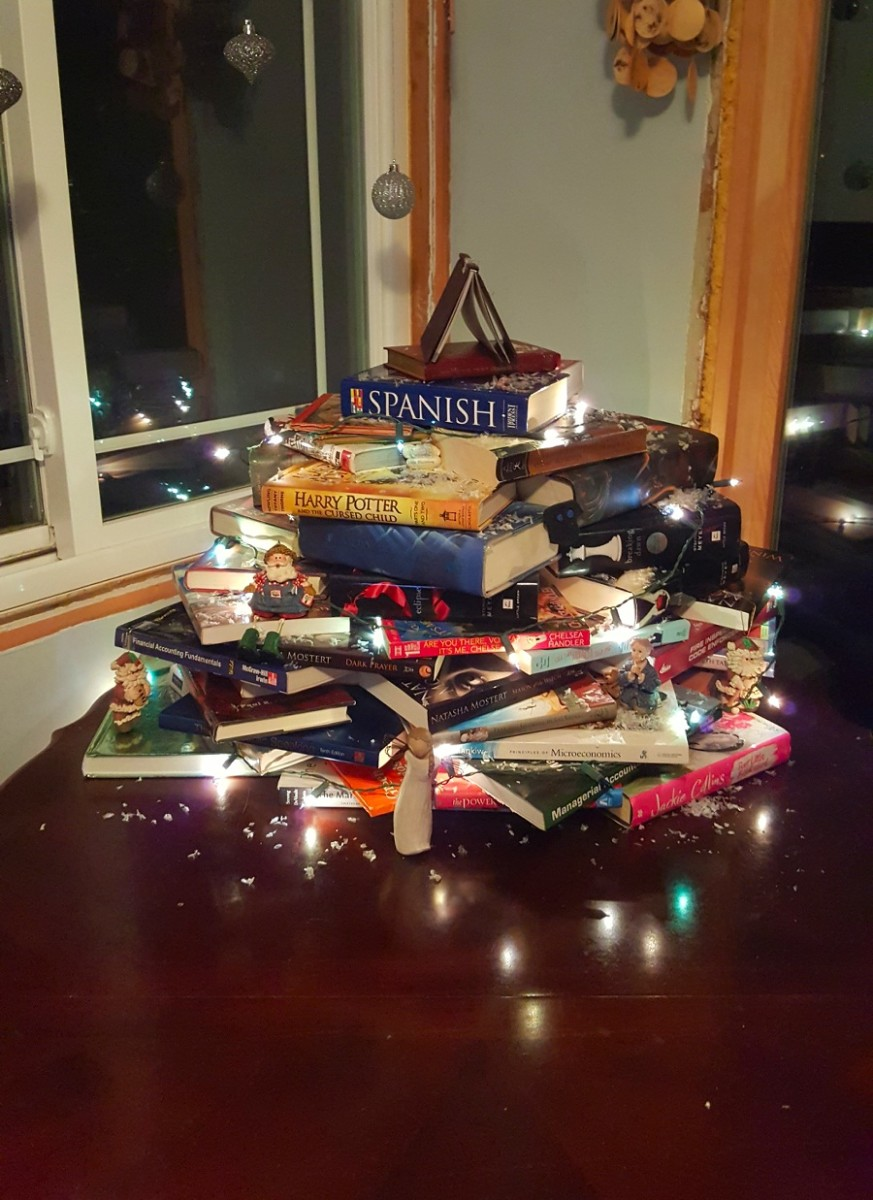 My Christmas book tree.