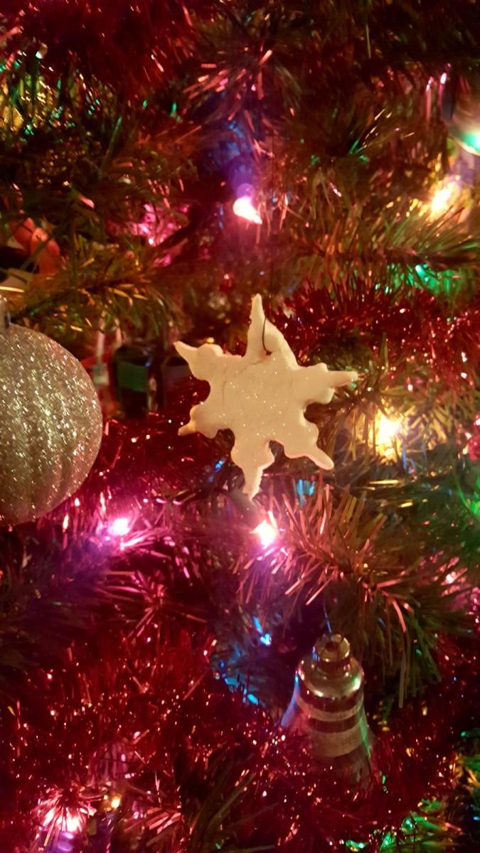 Charming Homemade Snowflake Christmas Ornament