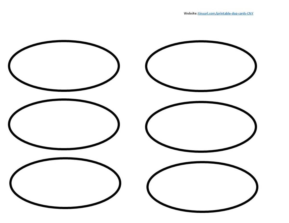 Oval Dog Ears.   Color in two ovals for the ears, cut out, and attach to head.